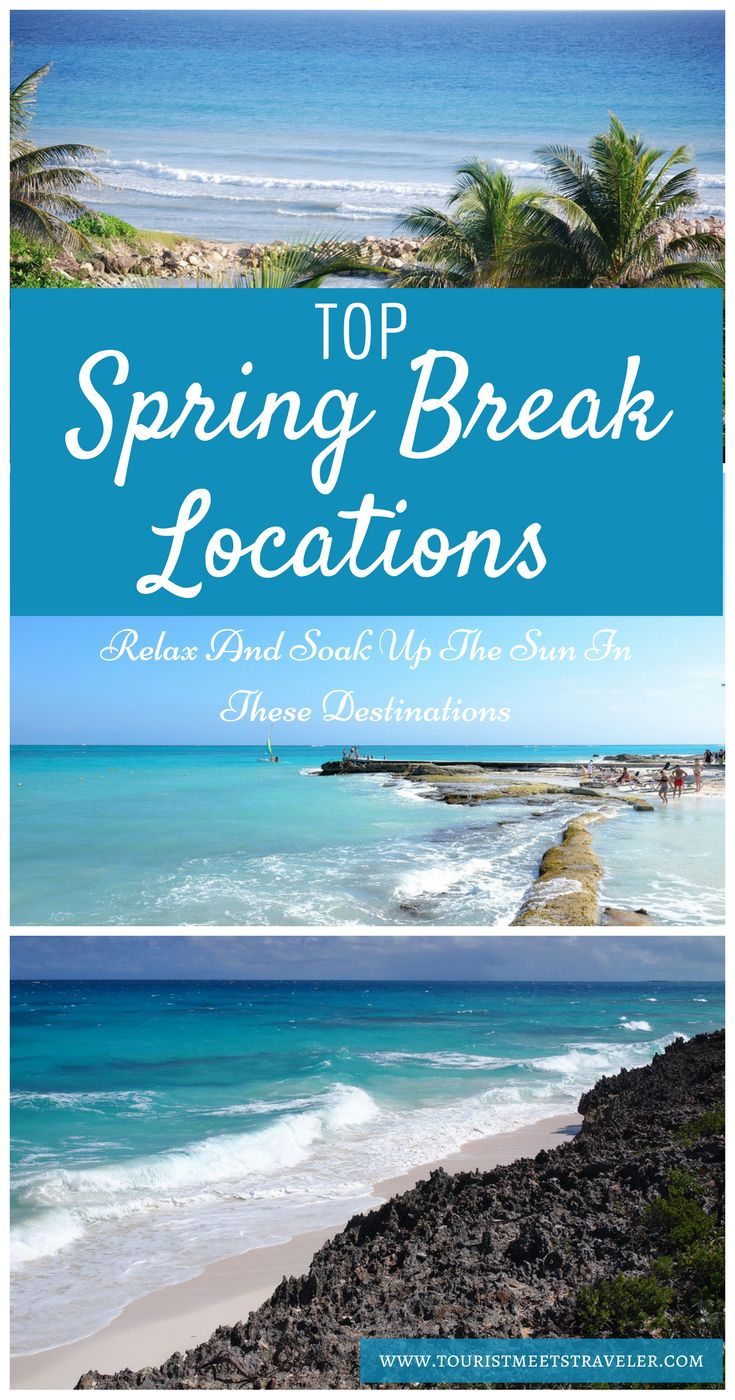 Are you looking for a destination ideas for Spring Break.  Check out these destinations to relax and soak up the sun.