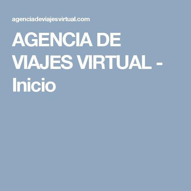 AGENCIA DE VIAJES VIRTUAL - Inicio