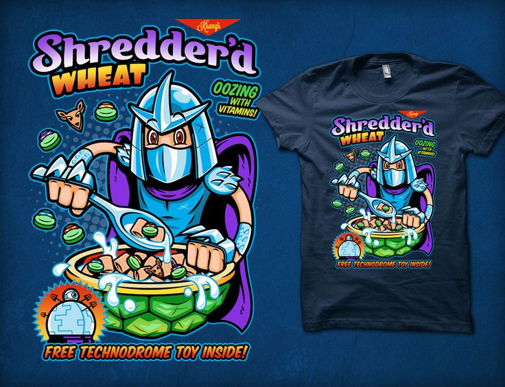 Shredder'd Wheat- Turtle power is part of a balanced breakfast!