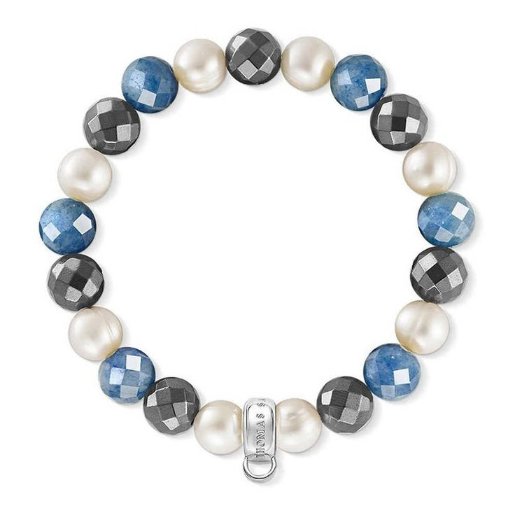 #Charm #Bracelet 925 #Sterling Club #Silver Blue Haematite Thomas Sabo #Fashion  😃👉 http://ebay.to/2mEoTWp #FREE #SHIPPING #ebay #jewelry