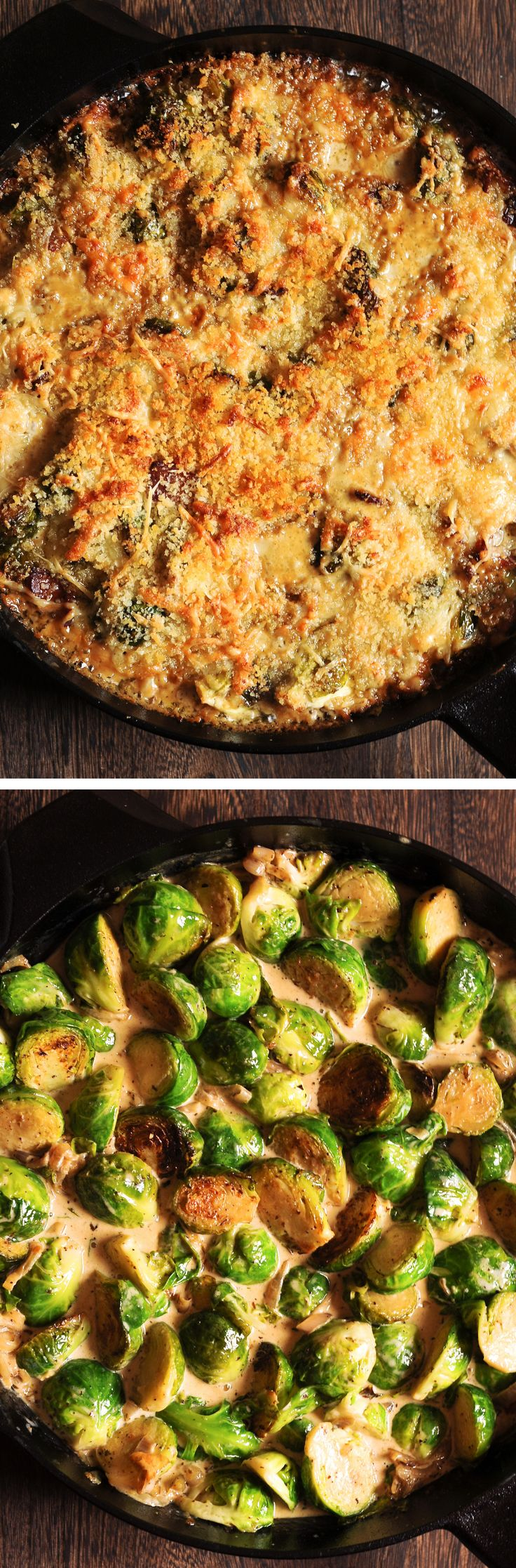 Brussels Sprouts Gratin with Bacon #ThanksgivingDinner #holidays