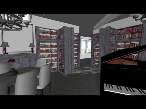 3D-визуализация дизайн-проекта по преобразованию Библиотеки им. А. Грина. - YouTube