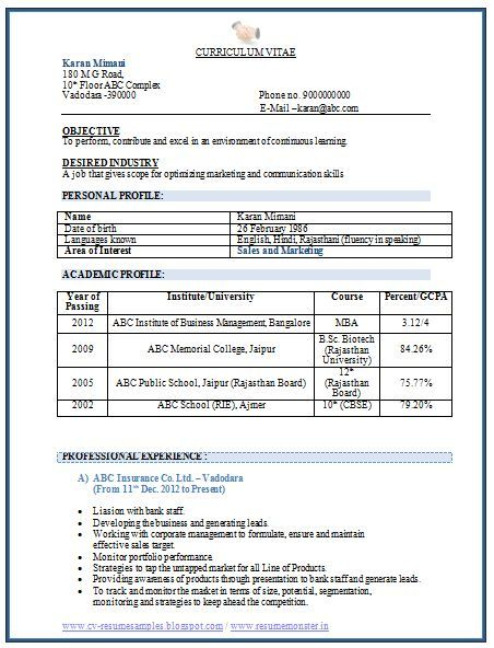 Pin By A Man S Creation On Format Job Resume Format Sample