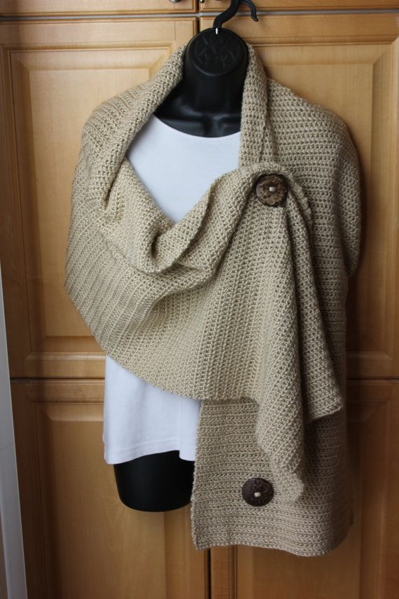 """Crochet Wrap  Made with Caron Simply Soft yarn.  This piece is 15 x 65"""" long."""