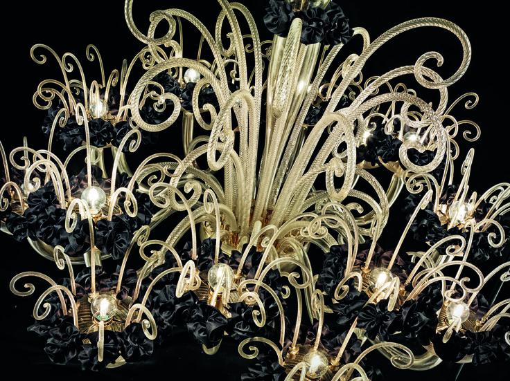 An inspiring detail of Bride chandelier. #BespokeChandelier #LuxuryLighting #deMajoIlluminazione