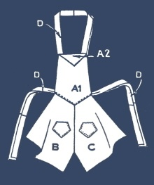 Handkerchief  Apron Pattern - Plus a lot of other clever sewing ideas from hankies, dish towels and more!