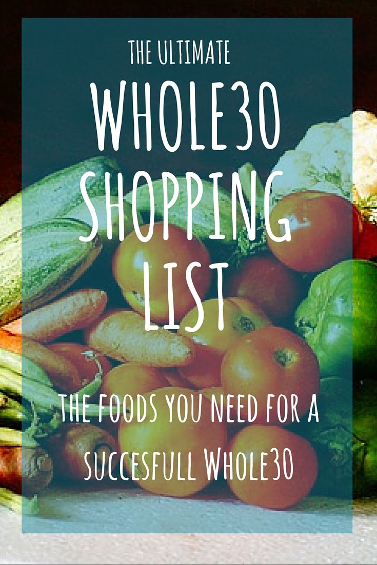 The Ultimate Whole30 Shopping List: The Foods & Tools You Need For a Successful Whole30!