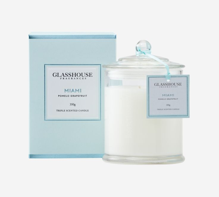 Miami Pomelo Grapefruit 350g Triple Scented Candle by Glasshouse Fragrances