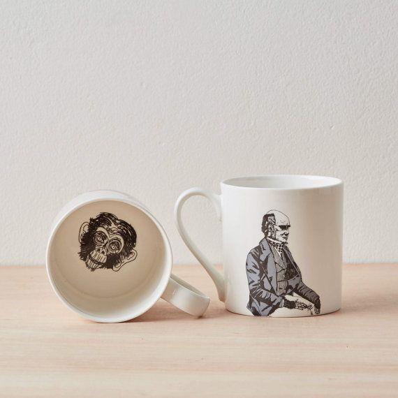 Charles Darwin Bone China tazza tazza di caffè tazza in