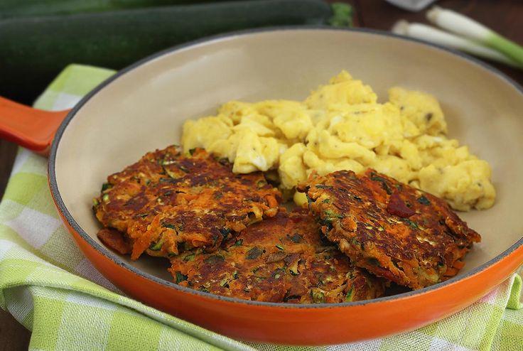 Paleo Bacon Zucchini Carrot Fritters | Paleo Newbie