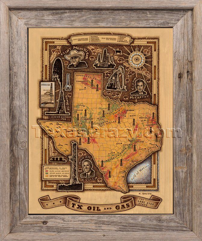 Houston Map Framed%0A Shop Texas Oil and Gas Map Framed Unique Texas Wall Art