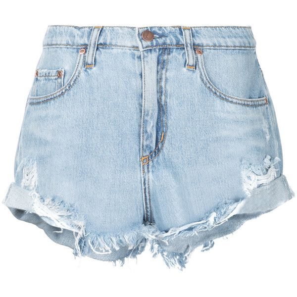 Nobody Denim Boho Short Blessed (4.365 UYU) ❤ liked on Polyvore featuring shorts, bottoms, blue, relaxed shorts, mid rise shorts, nobody denim, blue shorts and destroyed shorts