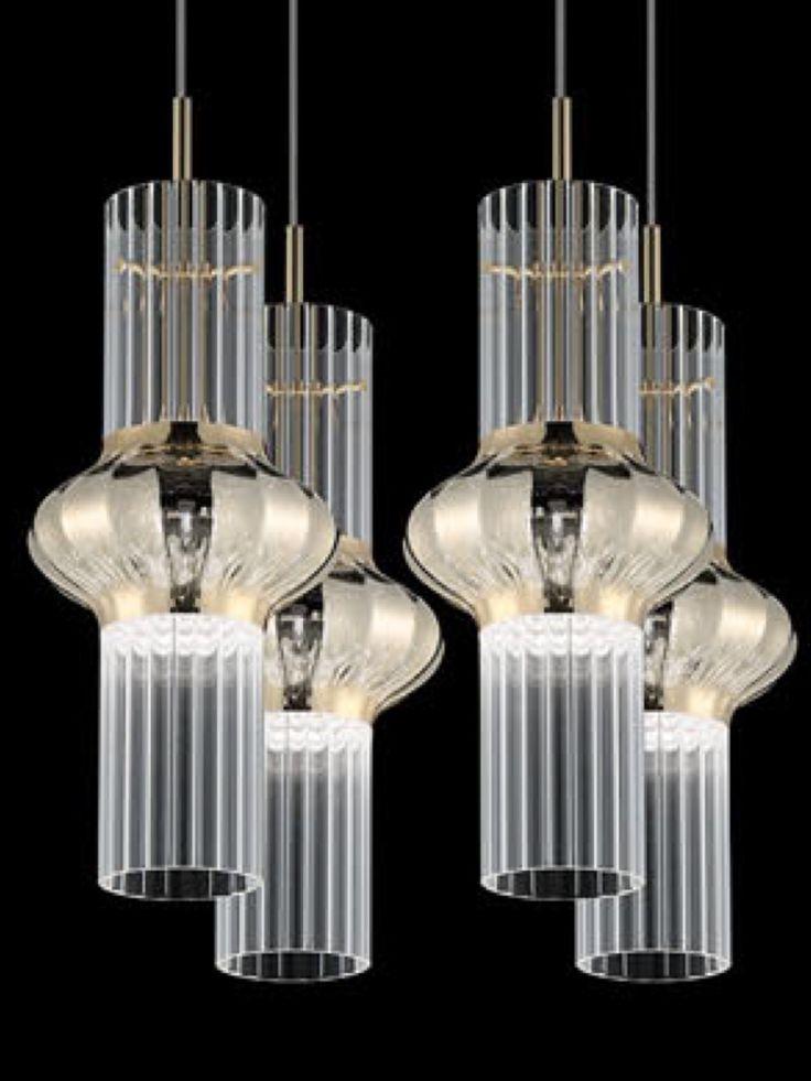 Gorgeous Vintage Glass Pendant Lights.