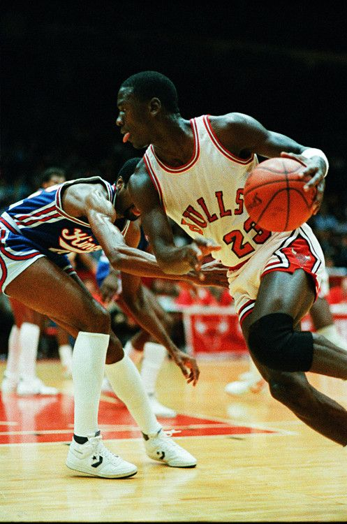 """This is how you drive past an opponent and """"break his ankles"""" - M Jordan"""