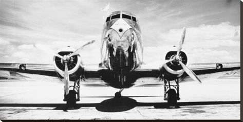 airplane on canvas | Passenger Airplane on Runway Stretched Canvas Print by Philip Gendreau ...