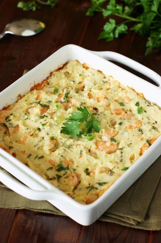 Baked Shrimp and Grits Casserole | FaveSouthernRecipes.com