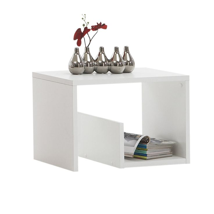Coffee Table Layers White High Gloss Amazon Co Uk Kitchen: FMD Mike Side Table White WxHxD 59x38x36 Cm