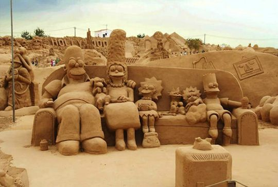 Fiesa Sand Sculpture Festival   The Simpsons, Darth Vader & More: Sands Castles, Animal Kingdom, The Simpsons, Street Art, Sandcastl, Art Pictures, Sandsculptur, Sands Art, Sands Sculpture