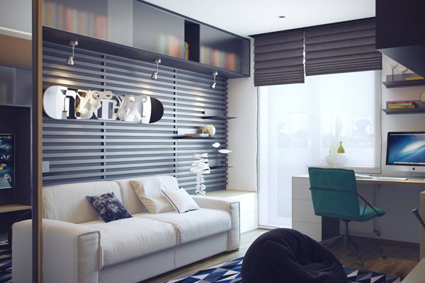 Hangout/study space | Cool Teenage Bedrooms by HQteam | House Design And Decor