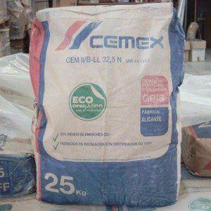 Saco de cemento precio 25 kg. gris a 1,85 €
