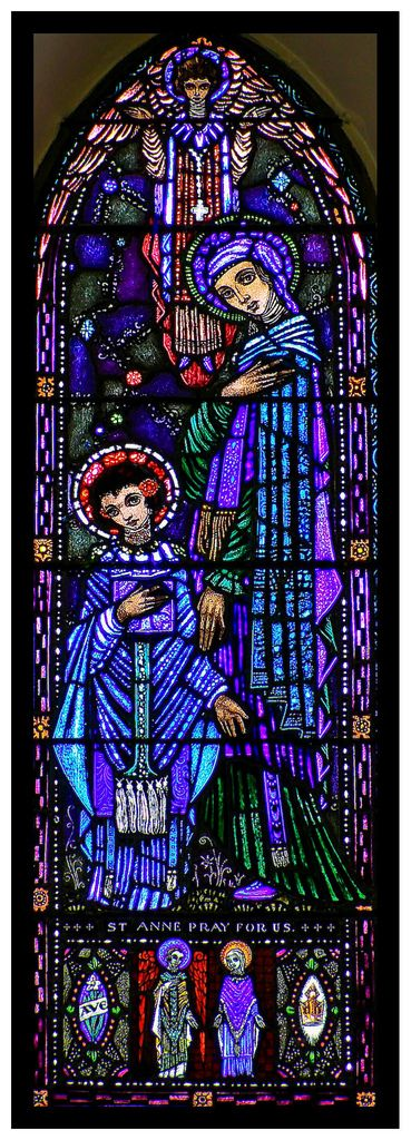 Stained glass window at St. Manchan's Church, Boher, Ballycumber, Co. Offaly. Ireland   by Alan Lonergan
