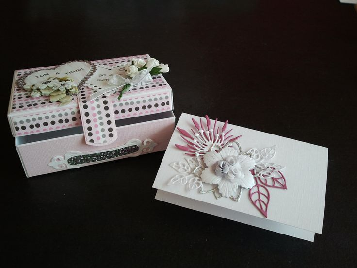 50th Wedding Anniversary case with little card inside.