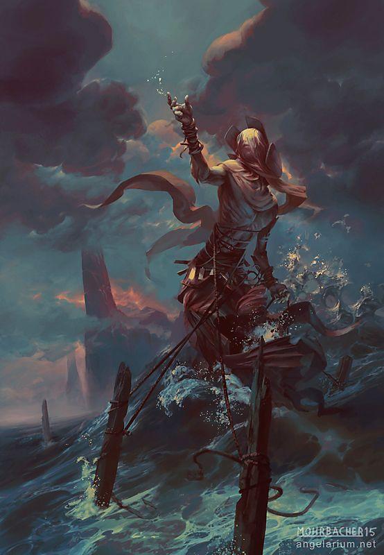 Ananiel, Ángel de las tormentas por PeteMohrbacher