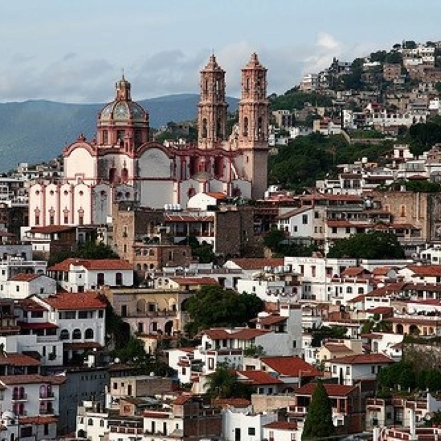 The old world city of Taxco in Guerrero, Mexico