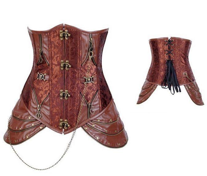 Sottoseno halloween disossato sottoseno Steampunk parte superiore del corsetto