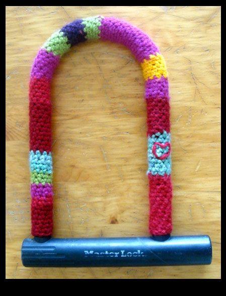Crocheted U-Lock Cover