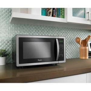 Right Hinged Countertop Microwave : Whirlpool 1.1 cu. ft. Countertop Microwave in Stainless Steel with ...
