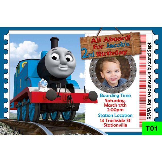 thomas the tank engine invitation digital personalized invite thomas the train party invite