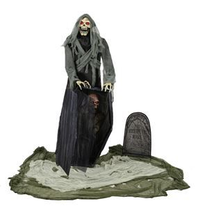 graveyard snatching reaper animated prop - Animated Halloween Decorations