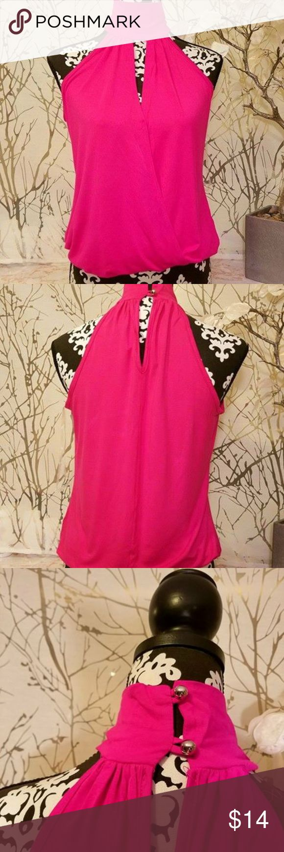 Venus Sleeveless Hot Pink Blouse Cute blouse! Very lightweight, comfortable. Size small. Brand new, never worn. VENUS Tops Blouses