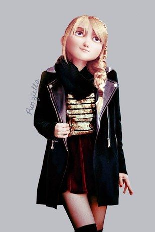 Punziella has also done modern edits of Dreamworks characters, like those from How to Train Your Dragon. | This Is What Disney Characters Would Look Like In The Modern World