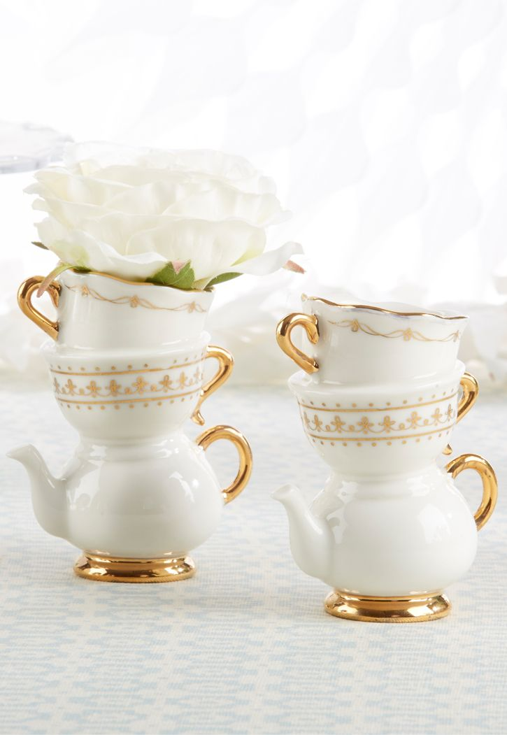 add elegance to your tea party bridal shower or luncheon with this bud vase designed to