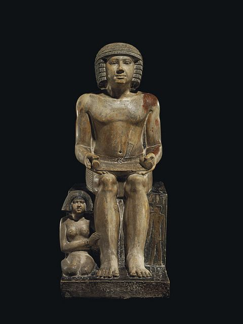 This ancient Egyptian statue dates to the 5th dynasty and depicts Sekhemka who was a scribe and court official, with his wife Sitmerit. Northampton Museum sold the Sekhemka statue for £15.76 m at an auction on 10 July 2014 to an anonymous buyer.