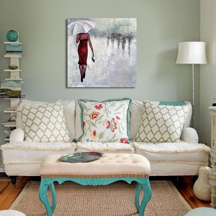 Rainy Appointment Vintage Living Room Design Chic Living Room Shabby Chic Living Room #shabby #chic #living #room #wall #decor
