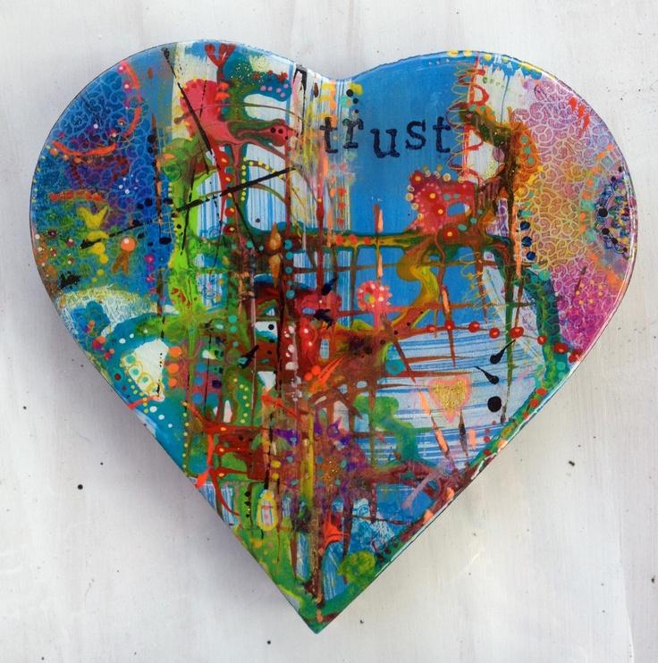 Resined Heart Art