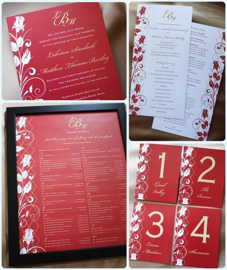 Red And Gold Wedding Invitations 016 - Red And Gold Wedding Invitations