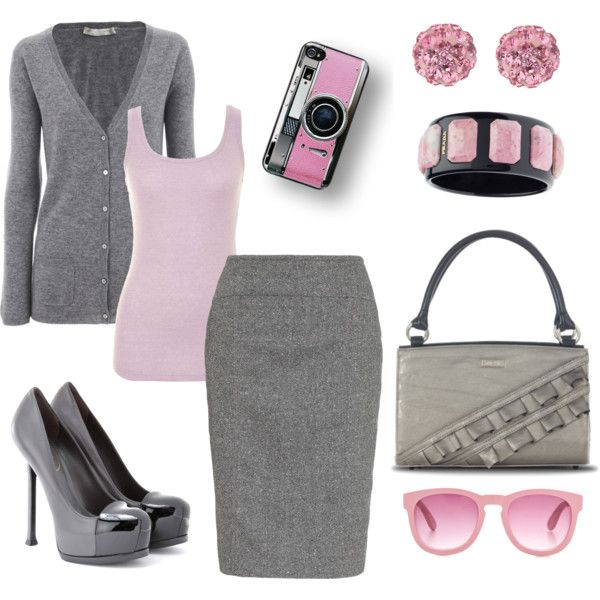 Pink and Gray - 79 Best Pink/Gray/Black Outfits Images On Pinterest Black