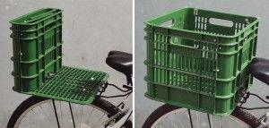 Recycler une caisse de lait pour faciliter vos déplacements à vélo