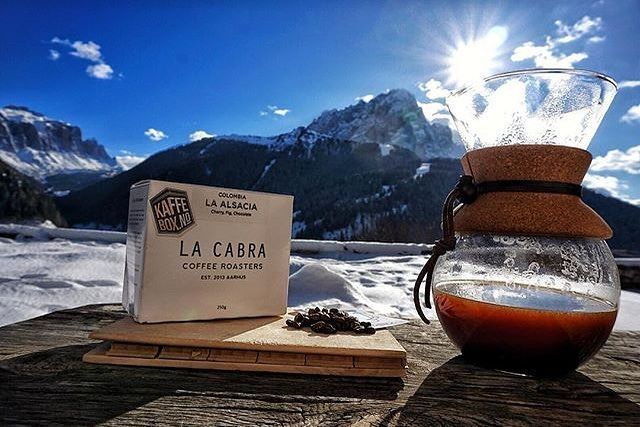 Awesome view # @thisiscoffee_dk   == KaffeBox Member Post == Enjoying this amazing Colombia coffee La Alsacia from @lacabracoffee via @kaffebox with the unique Dolomite mountains as backdrop. .    #thisiscoffee #butfirstcoffee #coffeeloversoftheworld #filtercoffee #coffeeshots #pourover #slowbrew #manmakecoffee #thirdwavecoffee #specialtycoffee #instacoffee #coffeegram #perfectdailygrind #coffeesesh #coffeelovers #coffeeaddict #baristadaily #coffee_inst #igerscoffee #anakkopi #hobikopi…