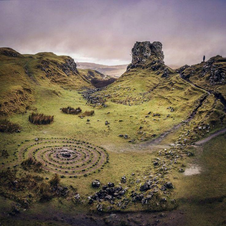 The Fairy Glen a very unique area of the Isle of Skye, Scotland