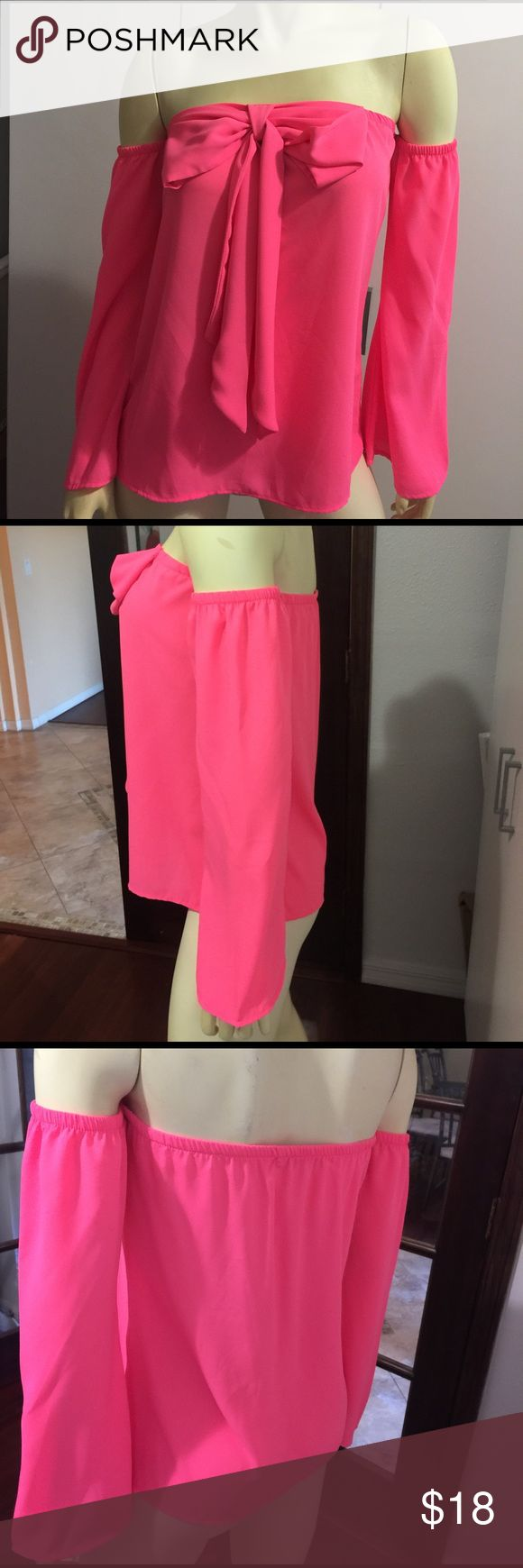 Blouse Hot pink blouse Tops Blouses