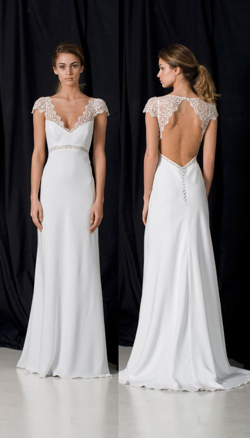 Portman Lambert Creations. This collection is all about #beautiful open back #details, delicate #lace sleeves and amazing shapes. Simple #weddingdresses that are #elegant, #romantic and perfect for a #modernbride who wants to feel relaxed and totally beautiful on her #weddingday. #Boho #weddingdress perfection! Mode Bridal is a #luxury #bridal boutique where #style loving brides will find #quality and impeccable service in everything we do. www.modebridal.co.uk