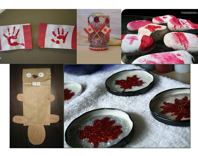 8 days! Need ideas for a cool Canadian craft? Winter Jar: http://www.create-kids-crafts.com/canada-day-crafts-for-kids.html Hand Print Flag: http://puddlesandmud.blogspot.ca/2011/06/more-canada-day-activities-crafts-etc.html Beaver Puppet: http://rubberbootsandelfshoes.blogspot.ca/2013/06/the-inukshuk-symbol-of-canada.html Maple Magnets: http://www.ourbigearth.com/2010/06/29/canada-day-craft-diy-maple-leaf-magnets/ Painted Rocks…