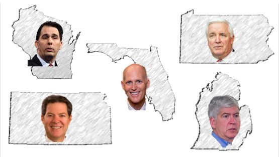 5 worst governors who put rich corporations and CEOs before students and schools--I would add Jindal the Swindle All