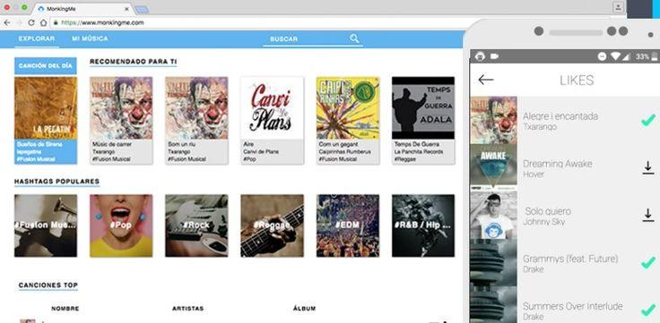#Música #canciones #descarga MonkingMe, una solución para bajar y escuchar música de forma legal y gratis
