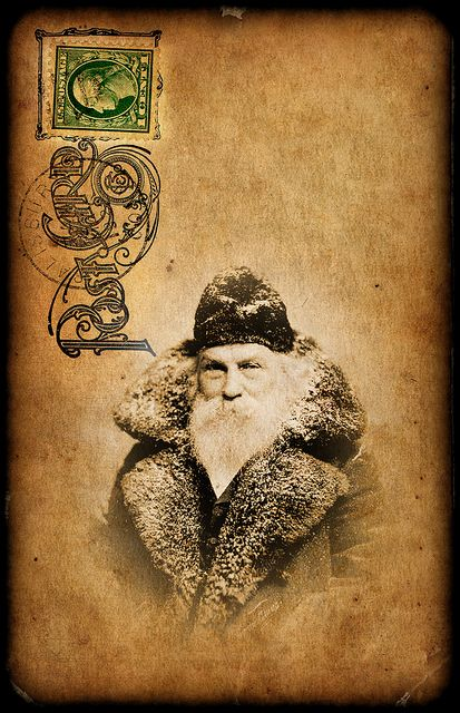 free Santa Postcard by jack and cat curio, via Flickr